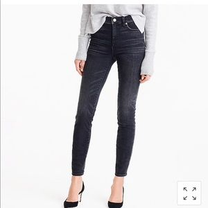 J. Crew high rise toothpick jean in charcoal wash